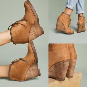 Vanessa Wu Wedge Booties NEW